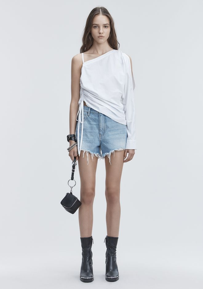 ALEXANDER WANG BITE CLASH CUT-OFF SHORTS DENIM Adult 12_n_f