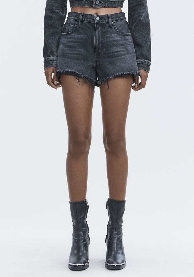 ALEXANDER WANG BITE CLASH CUT-OFF SHORTS DENIM Adult 12_n_a