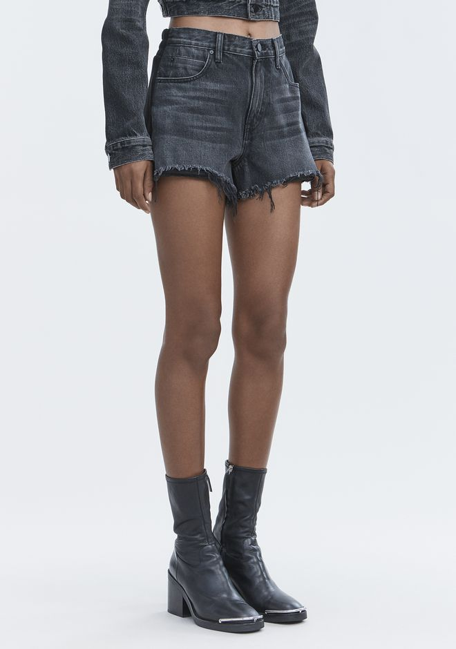 ALEXANDER WANG BITE CLASH CUT-OFF SHORTS DENIM Adult 12_n_e