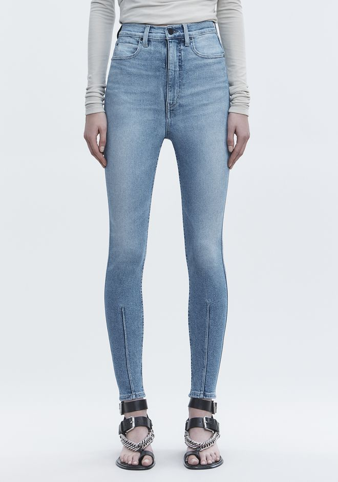 ALEXANDER WANG STRIP DART SKINNY JEAN DENIM Adult 12_n_a
