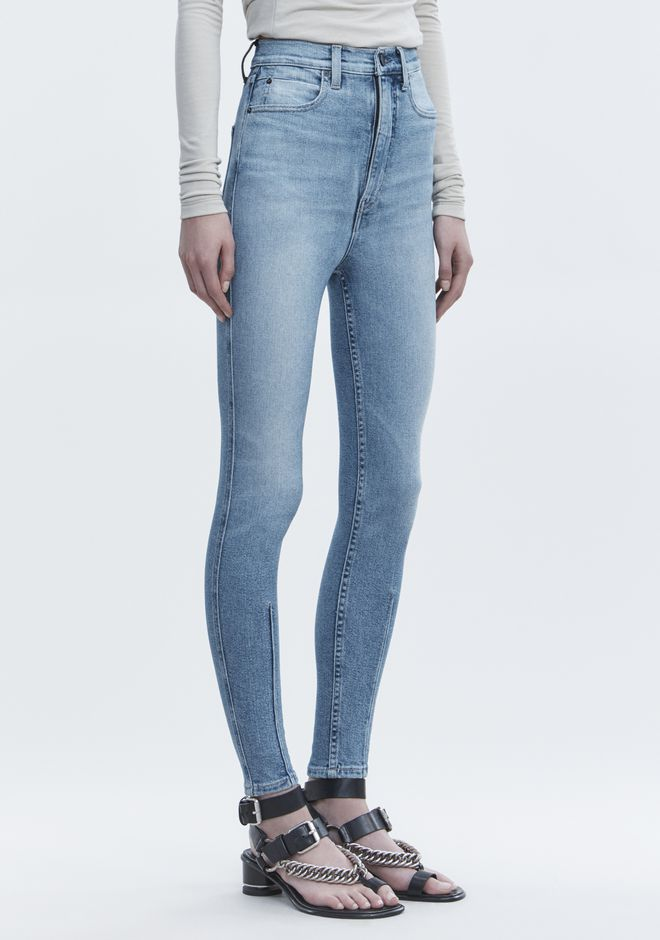 ALEXANDER WANG STRIP DART SKINNY JEAN DENIM Adult 12_n_e