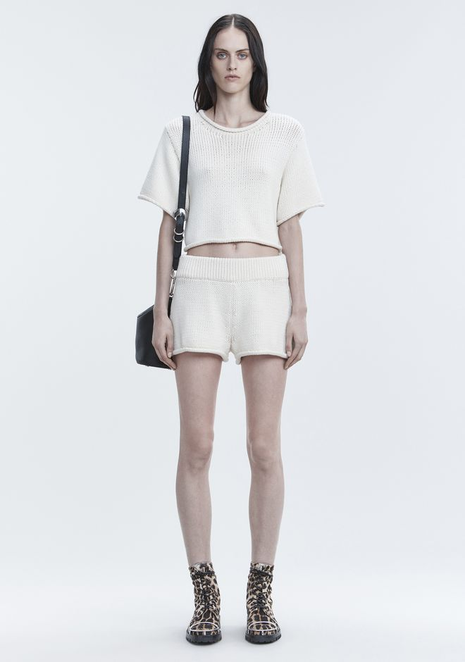 T by ALEXANDER WANG KNIT SHORTS SHORTS Adult 12_n_f