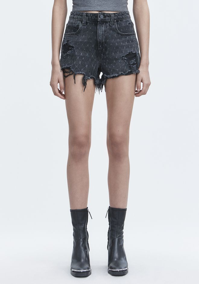 ALEXANDER WANG BITE NET CUT-OFF SHORTS SHORTS Adult 12_n_a