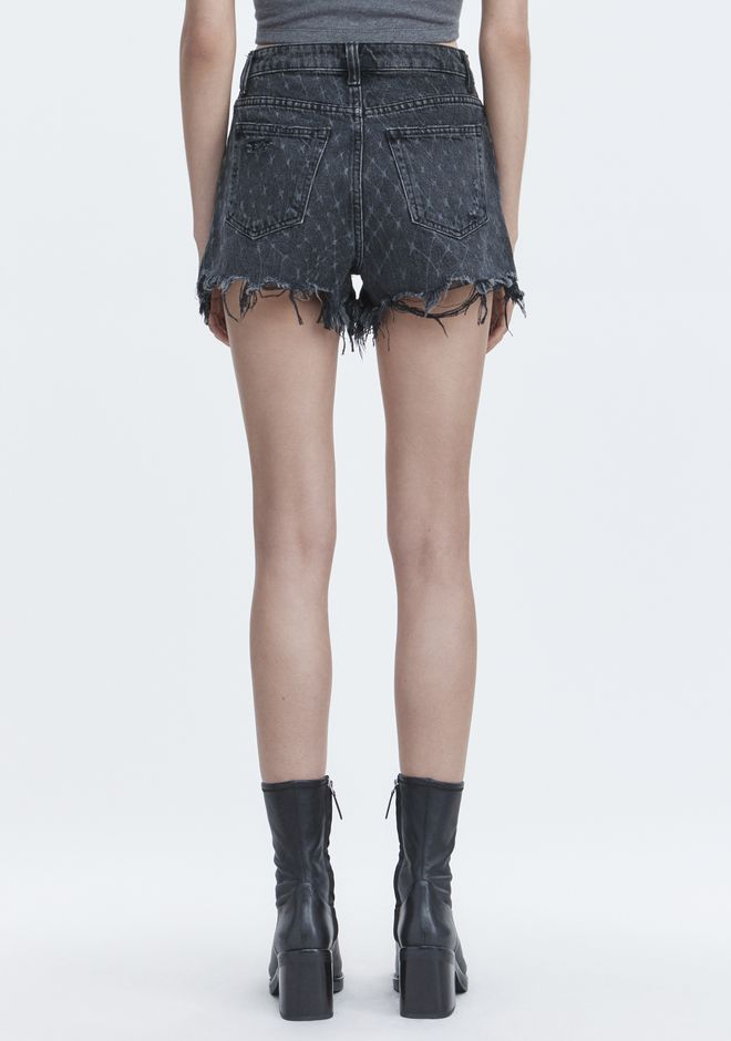ALEXANDER WANG BITE NET CUT-OFF SHORTS SHORTS Adult 12_n_d