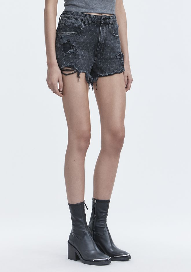 ALEXANDER WANG BITE NET CUT-OFF SHORTS SHORTS Adult 12_n_e