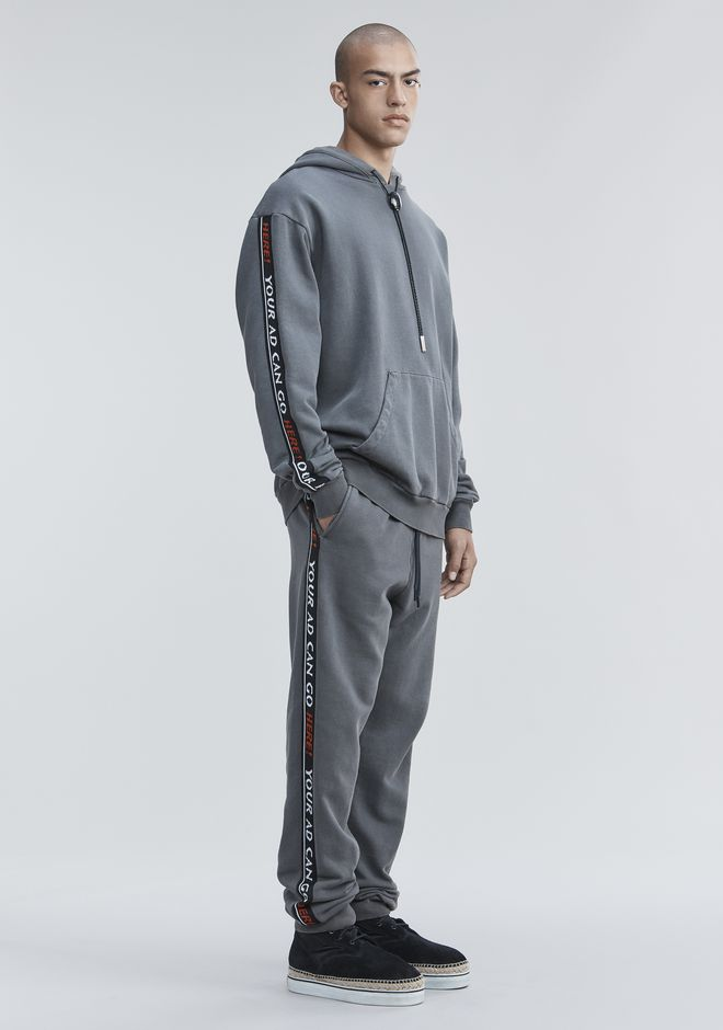 ALEXANDER WANG PANTS Men BOLO FLEECE SWEATPANTS