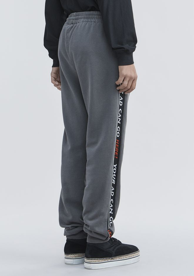 ALEXANDER WANG BOLO FLEECE SWEATPANTS PANTS Adult 12_n_a