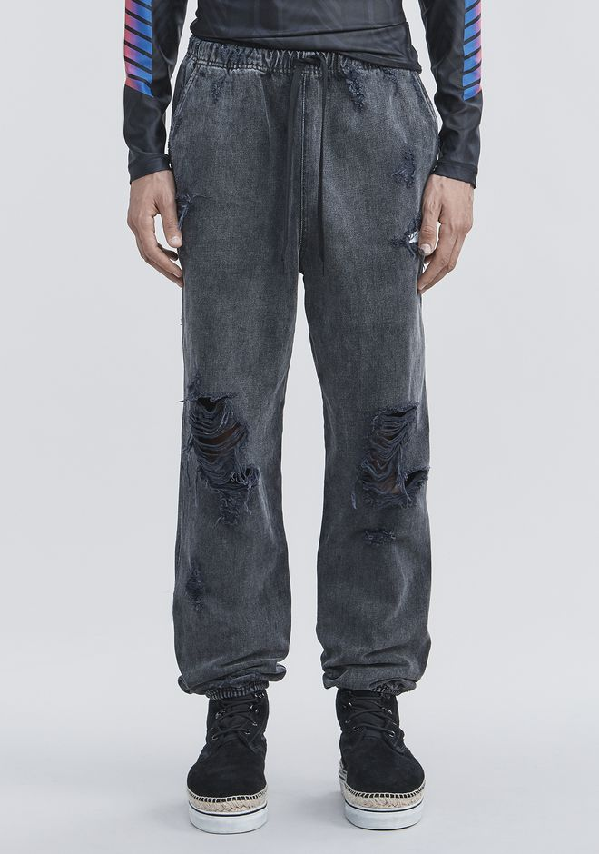 ALEXANDER WANG DENIM CHEF PANTS PANTS Adult 12_n_d