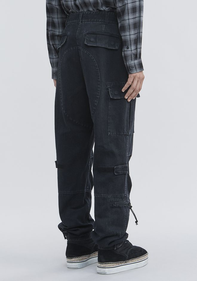 ALEXANDER WANG DENIM CARGO PANTS PANTS Adult 12_n_a