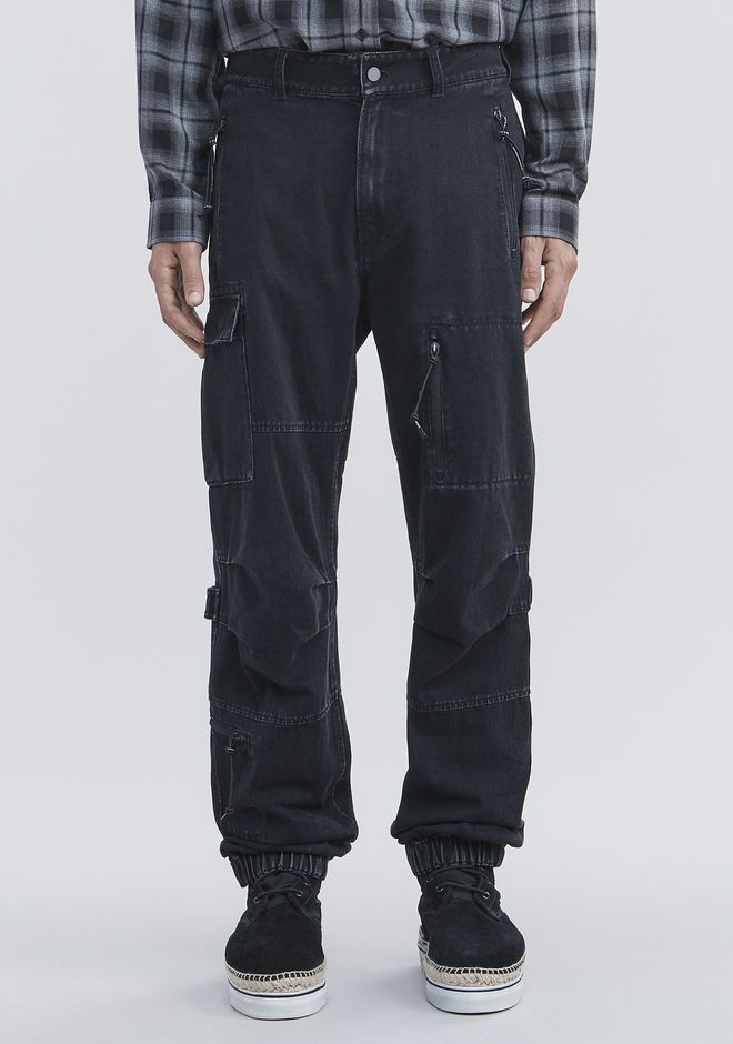 ALEXANDER WANG DENIM CARGO PANTS PANTS Adult 12_n_d
