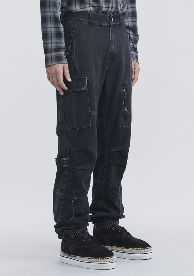 ALEXANDER WANG DENIM CARGO PANTS PANTS Adult 12_n_e