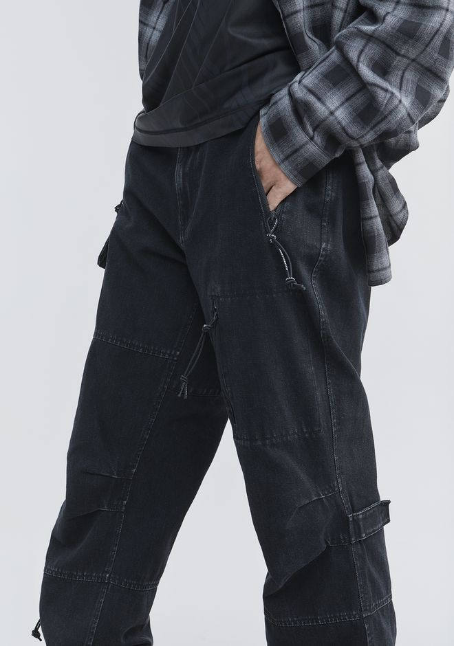 ALEXANDER WANG DENIM CARGO PANTS PANTS Adult 12_n_r