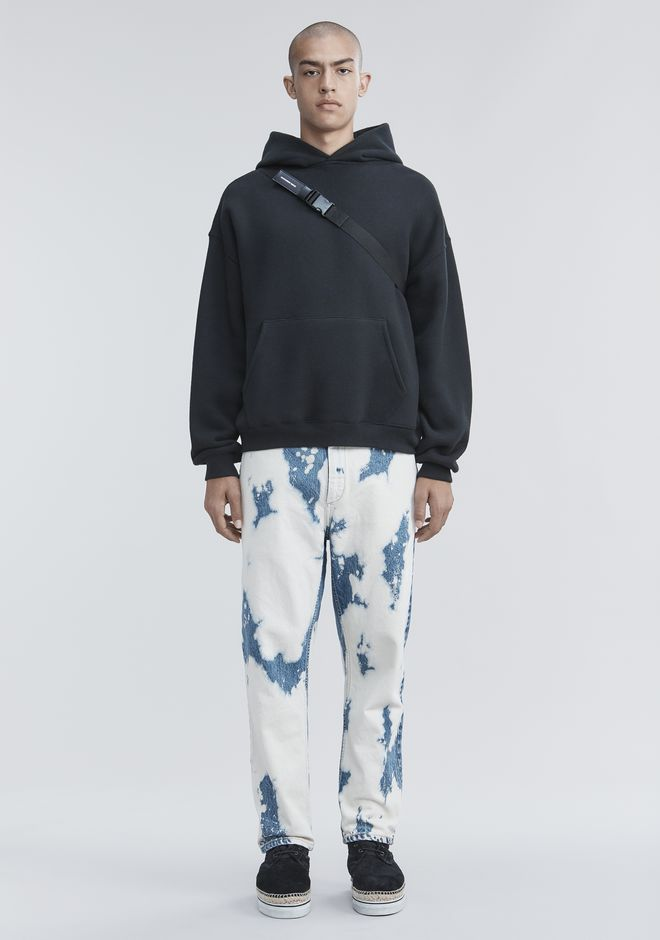 ALEXANDER WANG PANTS Men BLEACHED DENIM PANTS