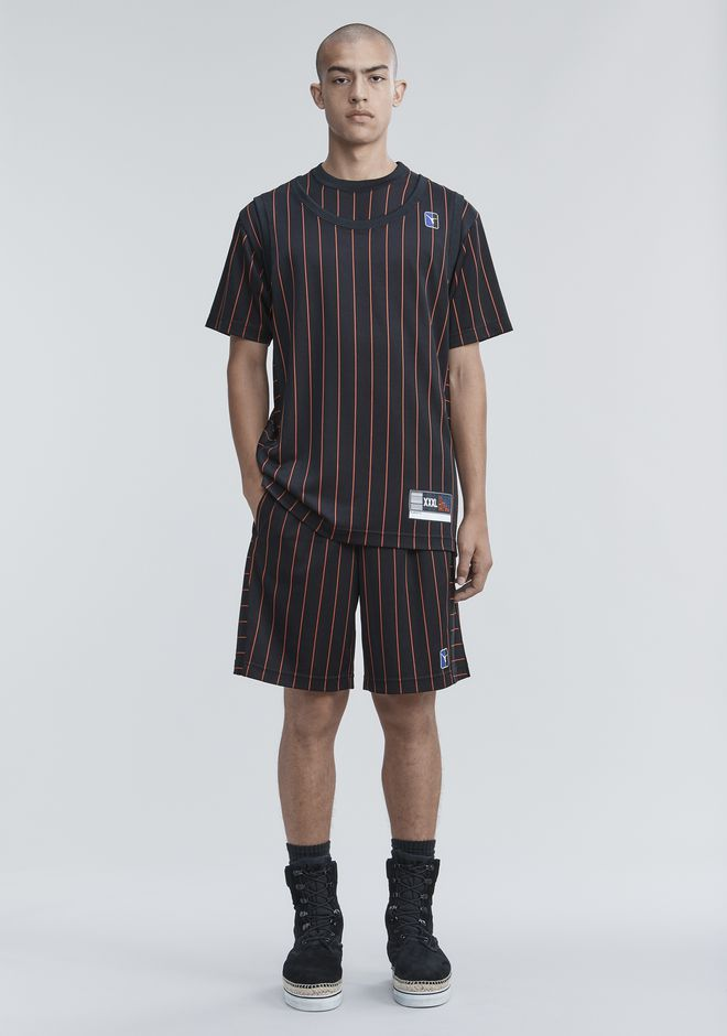 ALEXANDER WANG SHORTS Men PINSTRIPE JERSEY SHORTS