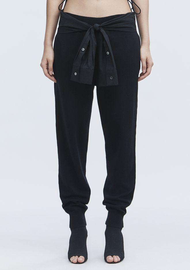 T by ALEXANDER WANG KNIT PANTS PANTS Adult 12_n_d