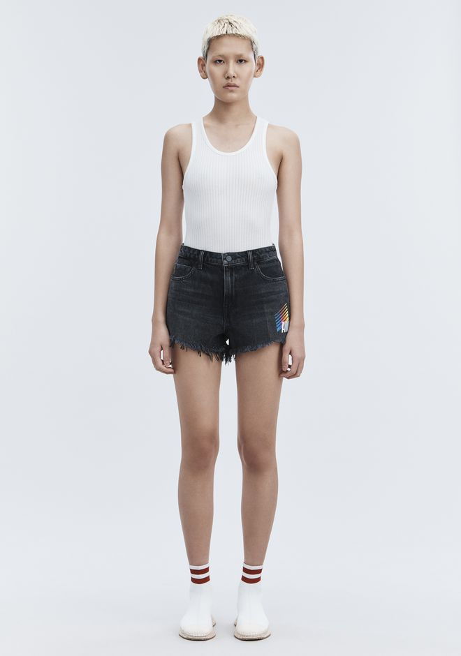 ALEXANDER WANG SPONSORED BITE SHORTS DENIM Adult 12_n_d