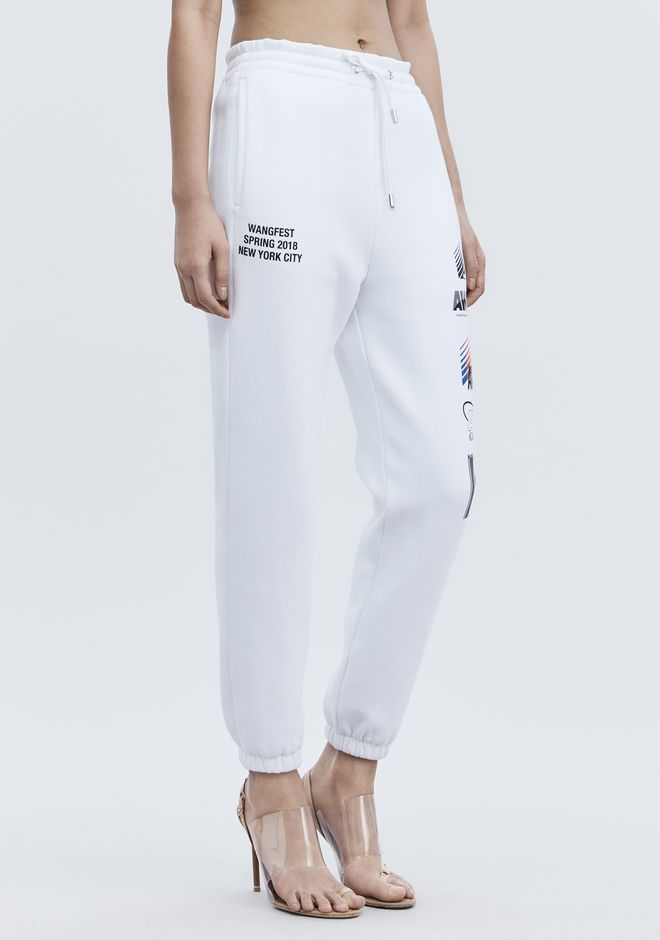 ALEXANDER WANG SPONSORED SWEATPANTS PANTS Adult 12_n_a