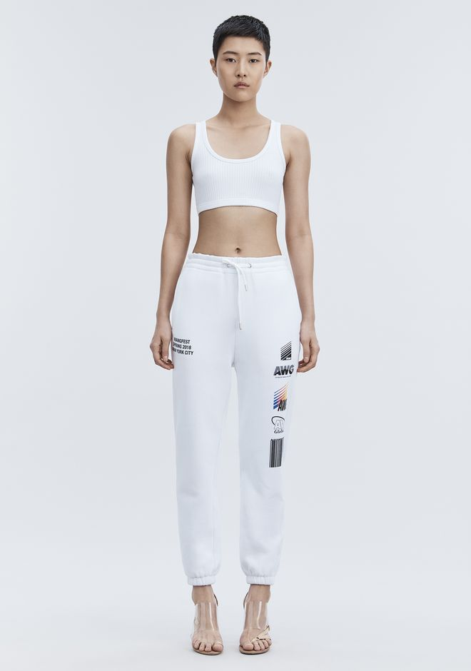 ALEXANDER WANG SPONSORED SWEATPANTS PANTS Adult 12_n_d