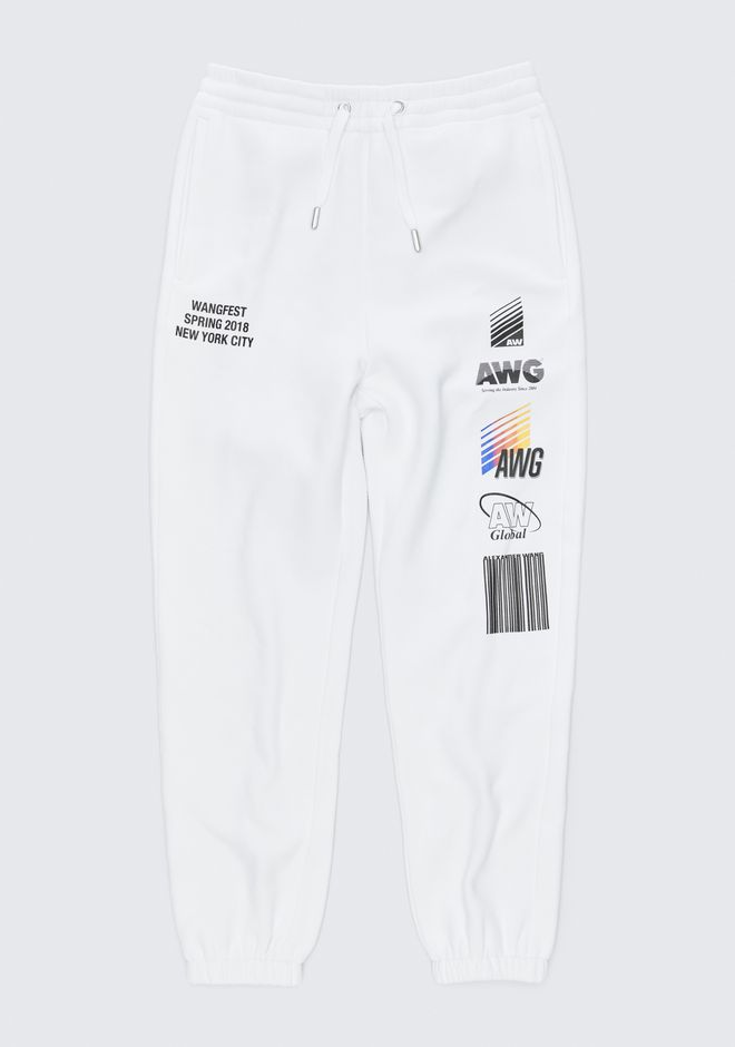 ALEXANDER WANG SPONSORED SWEATPANTS PANTS Adult 12_n_f