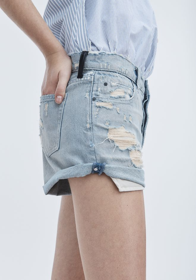 ALEXANDER WANG HIKE ROLLED SHORTS DENIM Adult 12_n_d