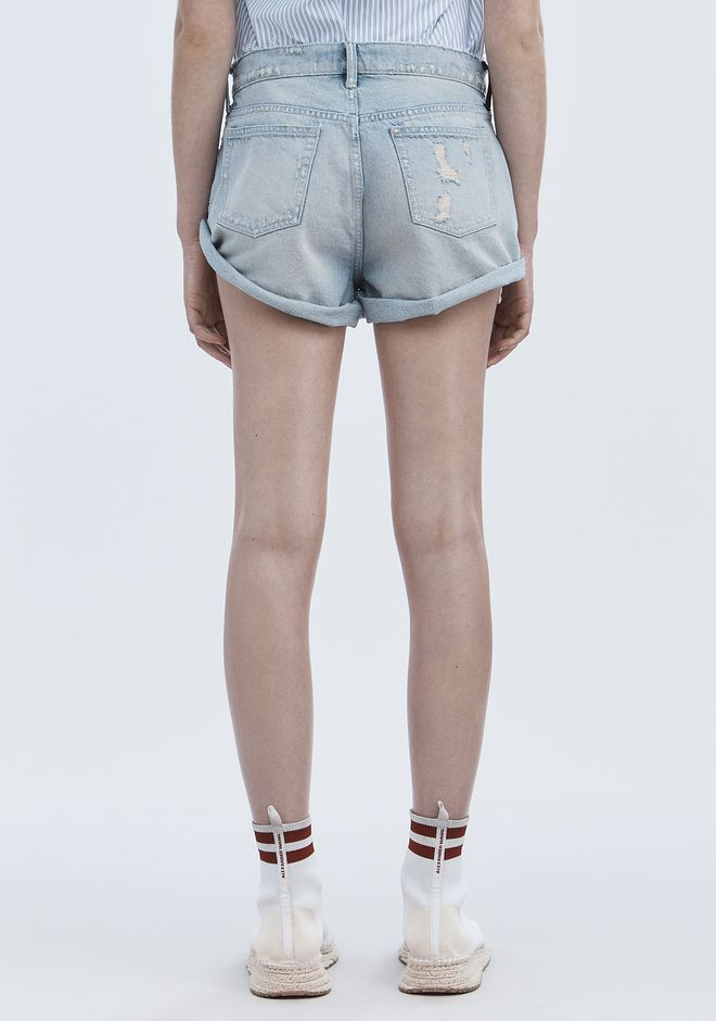 ALEXANDER WANG HIKE ROLLED SHORTS DENIM Adult 12_n_r