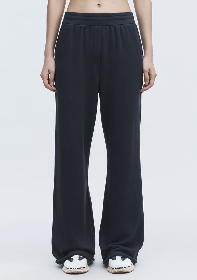 T by ALEXANDER WANG WIDE LEG SWEATPANTS PANTS Adult 12_n_d