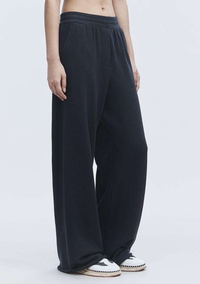T by ALEXANDER WANG WIDE LEG SWEATPANTS PANTS Adult 12_n_e