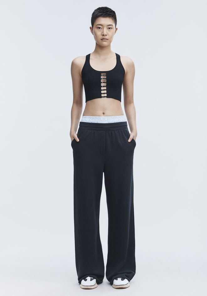 T by ALEXANDER WANG WIDE LEG SWEATPANTS PANTS Adult 12_n_f
