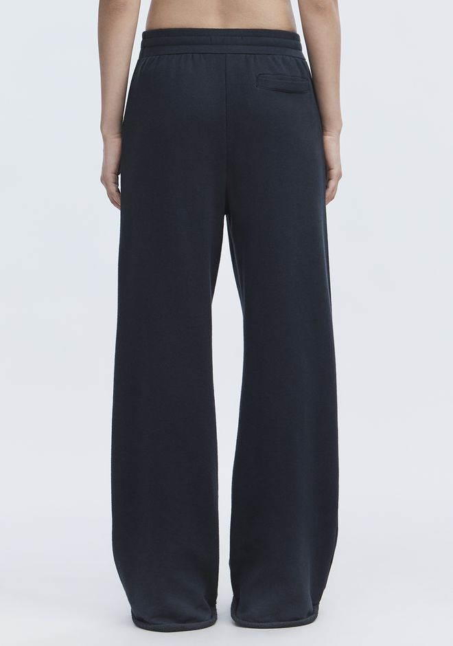 T by ALEXANDER WANG WIDE LEG SWEATPANTS PANTS Adult 12_n_r