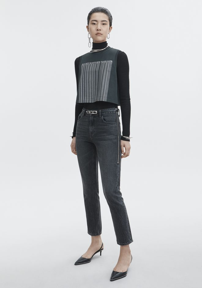 ALEXANDER WANG CULT SIDE ZIP JEAN DENIM Adult 12_n_f