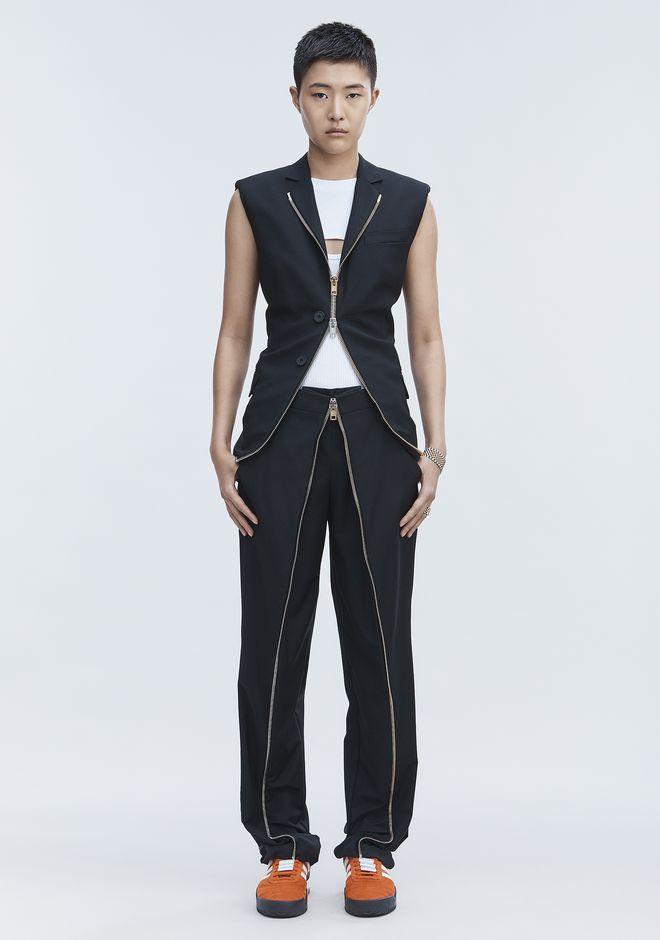 ALEXANDER WANG PANTS Women DECONSTRUCTED MEN'S TROUSER