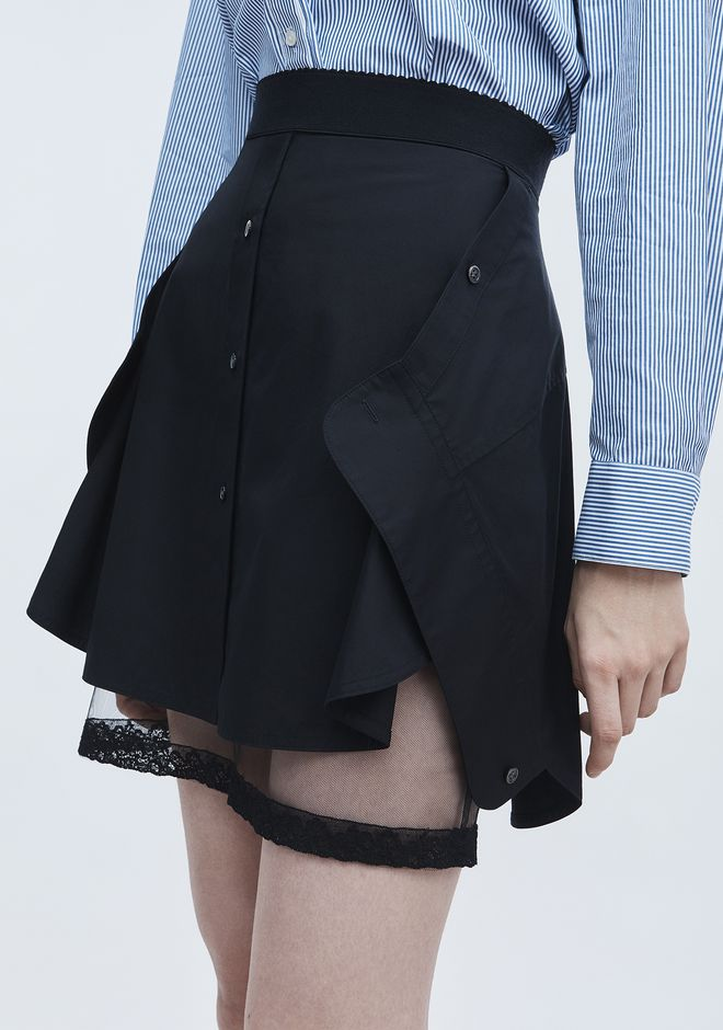 ALEXANDER WANG DECONSTRUCTED SKIRT  ROCK Adult 12_n_a