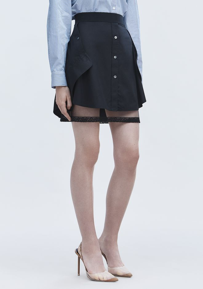ALEXANDER WANG DECONSTRUCTED SKIRT  ROCK Adult 12_n_e