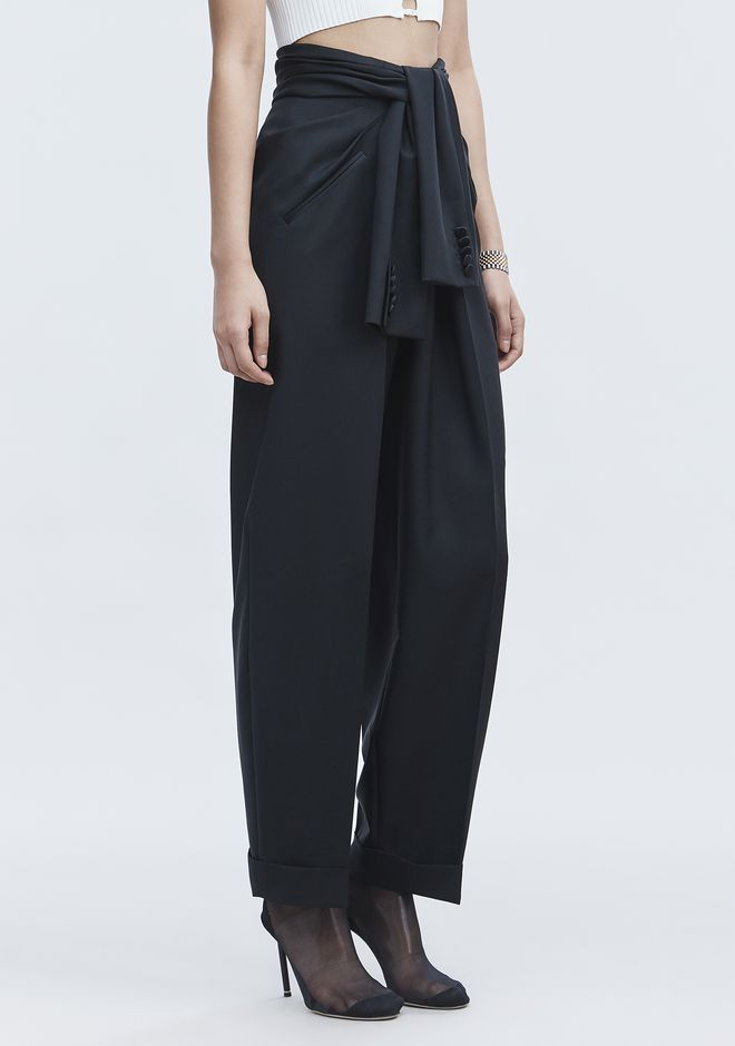 ALEXANDER WANG TIE FRONT PANTS 裤装 Adult 12_n_e