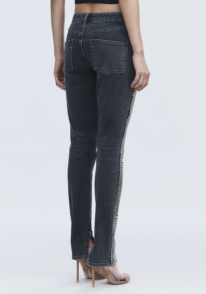 ALEXANDER WANG STUDDED PANEL JEAN PANTS Adult 12_n_d