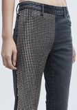 ALEXANDER WANG STUDDED PANEL JEAN PANTS Adult 8_n_r