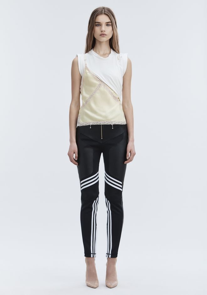 ALEXANDER WANG ADIDAS ORIGINALS BY AW LEATHER PANTS  HOSEN Adult 12_n_d