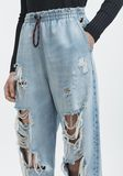 ALEXANDER WANG DRAWSTRING JOGGER DENIM Adult 8_n_d