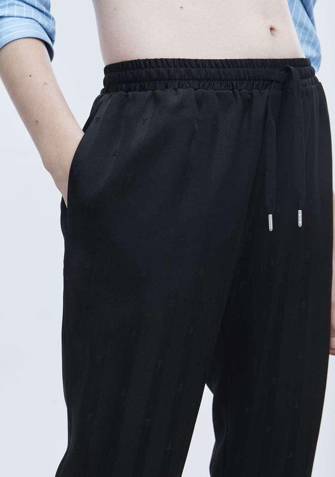 T by ALEXANDER WANG JACQUARD SILK TRACK PANTS パンツ Adult 12_n_a