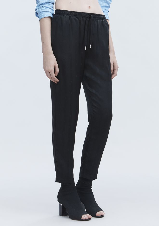 T by ALEXANDER WANG JACQUARD SILK TRACK PANTS パンツ Adult 12_n_e
