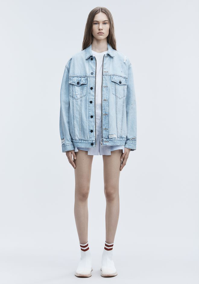 ALEXANDER WANG DAZE ZIP DENIM JACKET DENIM Adult 12_n_f