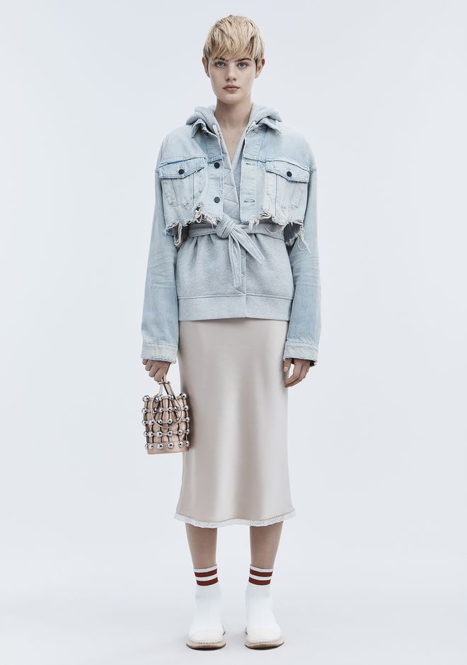 ALEXANDER WANG sale-denim BLAZE CROP DENIM JACKET