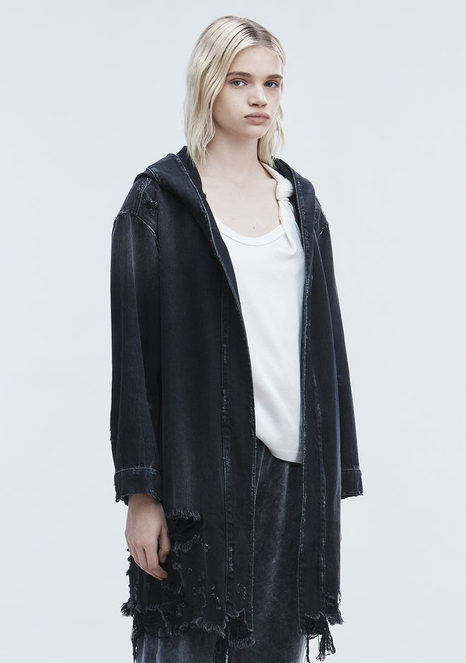 ALEXANDER WANG SHORT DISTRESSED ROBE  JEAN Adult 12_n_a