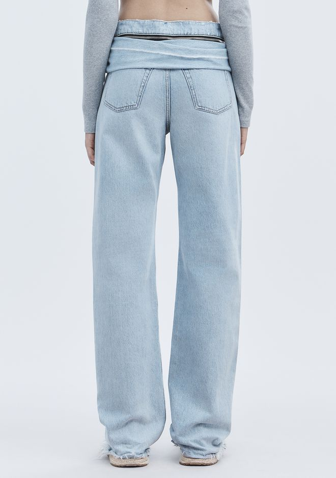 ALEXANDER WANG STACK TIE JEAN DENIM Adult 12_n_r