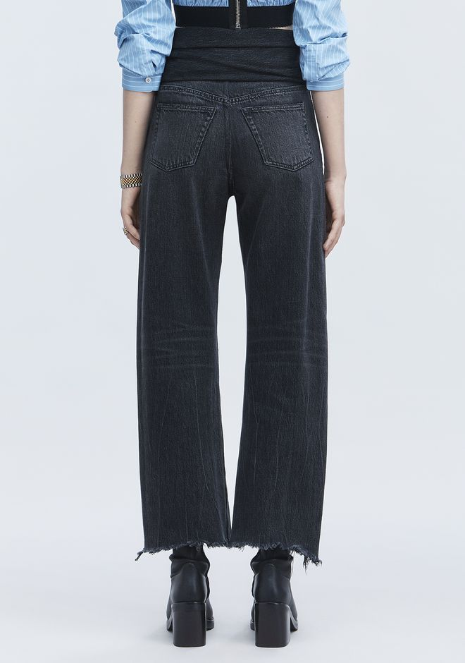 ALEXANDER WANG STACK TIE CROP JEAN DENIM Adult 12_n_r