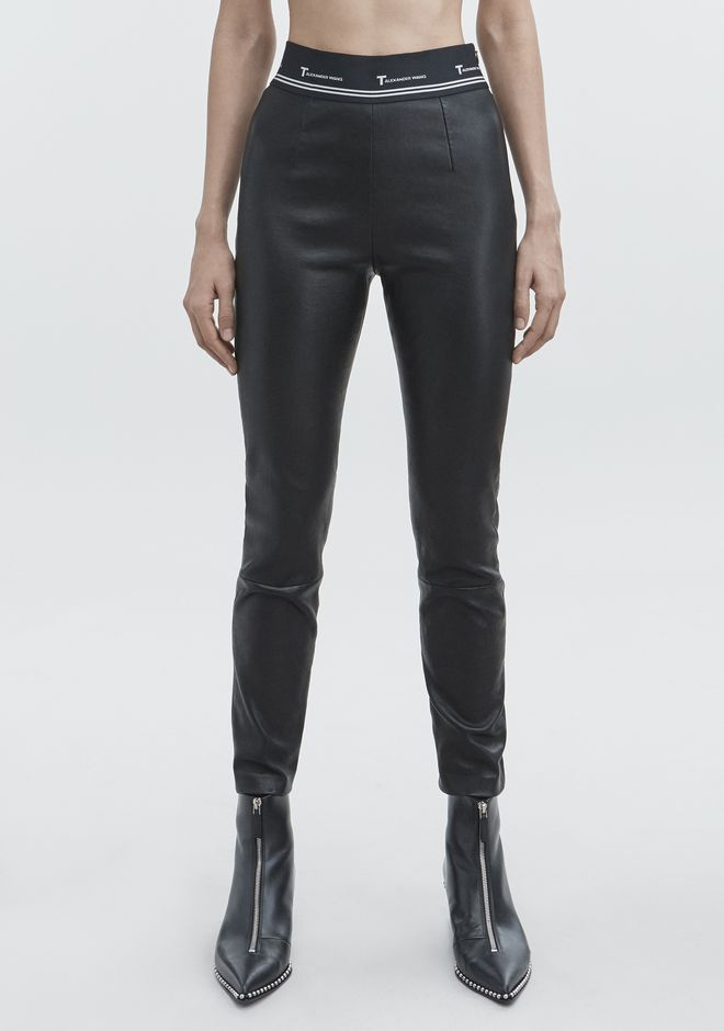 T by ALEXANDER WANG STRETCH LEATHER PANT  PANTS Adult 12_n_a