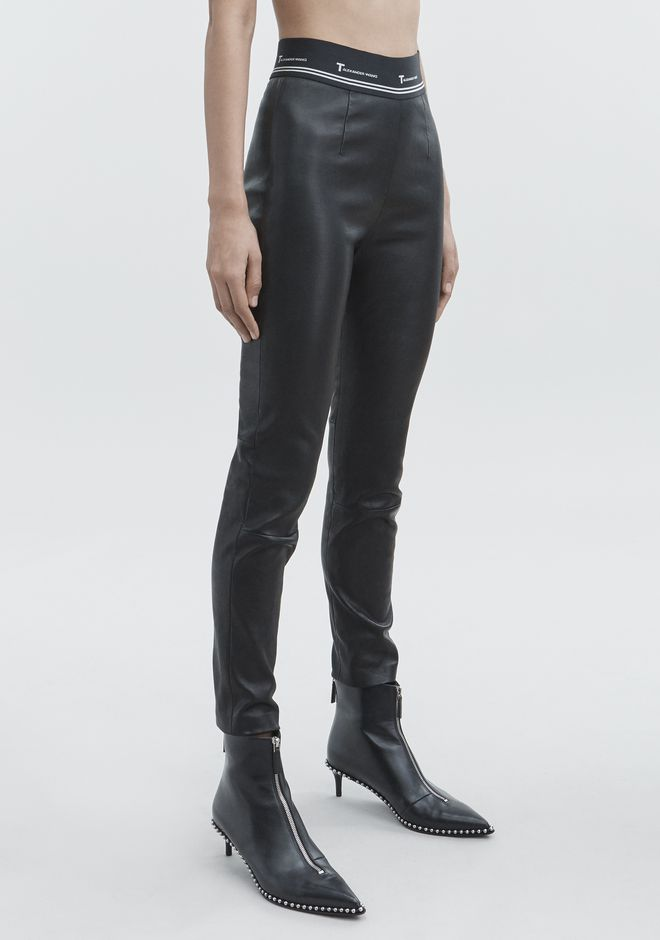 T by ALEXANDER WANG STRETCH LEATHER PANT  PANTS Adult 12_n_e
