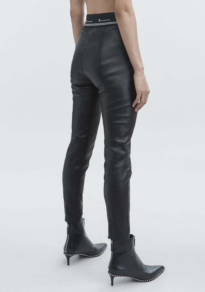 T by ALEXANDER WANG STRETCH LEATHER PANT  PANTS Adult 12_n_r