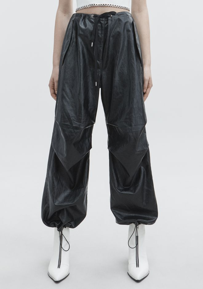 T by ALEXANDER WANG FAUX LEATHER PANT PANTALONI Adult 12_n_a