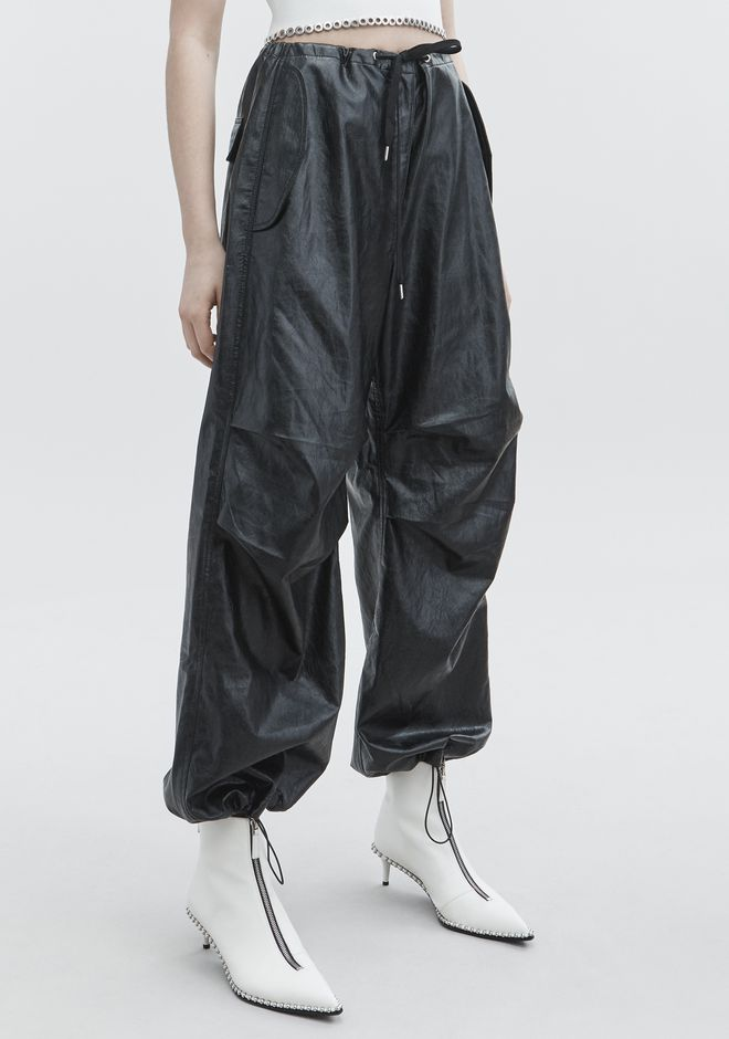 T by ALEXANDER WANG FAUX LEATHER PANT PANTALONI Adult 12_n_e